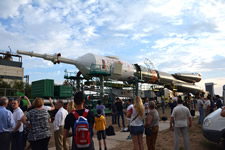 Baikonur cosmosrome trip program - Soyuz roll-out from the integration building